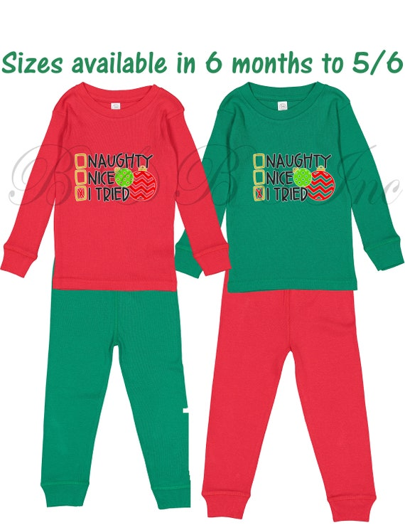 Christmas PJs, Naughty Nice PJs, Pajamas, Christmas Pajamas