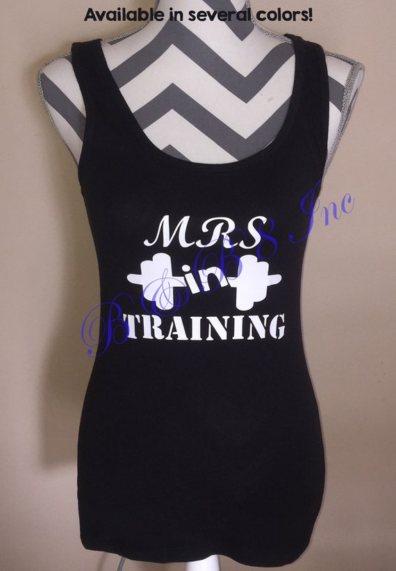 Mrs In Training Tank Top, Bridal Shirt, Bridal Gift, Bride Gift, Mrs to Be