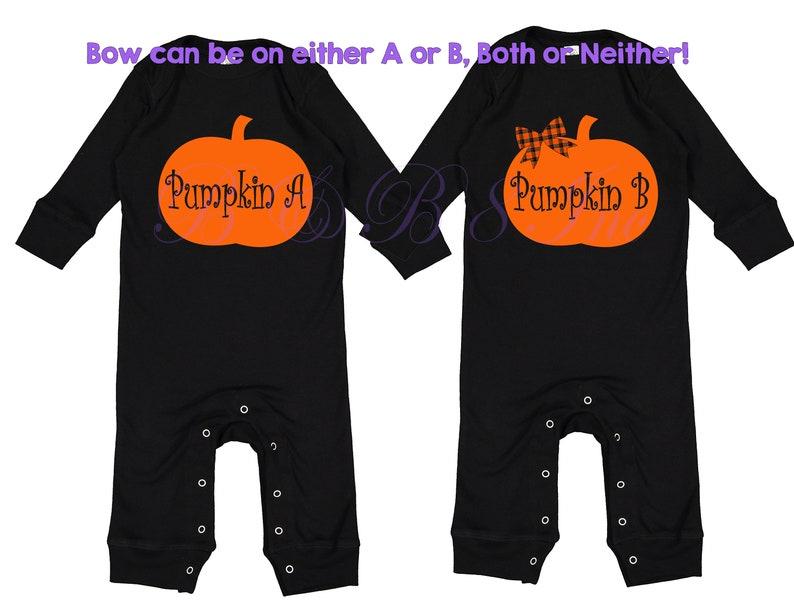 f881eefe9 Twin Halloween Outfit Halloween Twinning Twin Pumpkins | Etsy