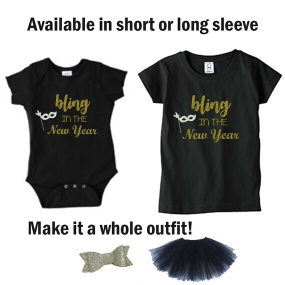 Bling in the New Year Shirt, New Years Shirt, New Years Bodysuit, New Years 2018, New Years Tee, New Years Toddler Shirt, New Year Shirt