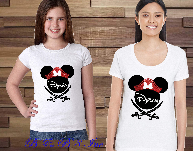 a46abc4a Pirate Minnie Shirts, Pirate Mickey Shirts, Disney Pirate Family Shirts, Custom  Disney Shirts, Disney Cruise Shirts