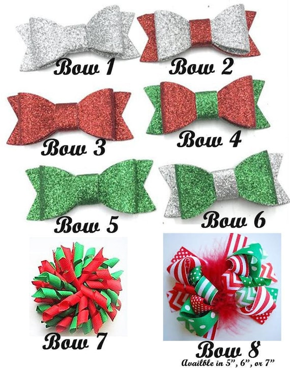 Christmas Hair Bows, Girls Christmas Bows, Christmas Bows for Girls, Christmas Headband, Boutique Bow, Sparkle Bows, Sparkle Headbands
