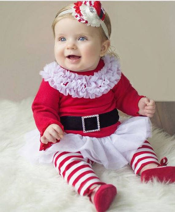 SALE! SAME DAY Shipping! Christmas Girls Outfit, Girls Christmas Outfit, Girls Santa Outfit, Boutique Christmas Outfit
