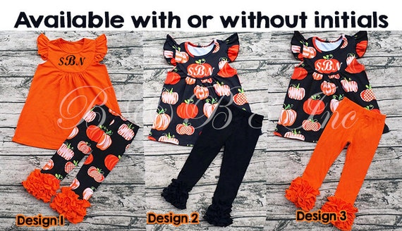 Girls Fall Outfit, Pumpkin Outfit, Cutest Pumpkin in the Patch, Icing Pants, Pumpkin Ruffle Shirt, Fall Outfit for Girls **Ready to Ship**