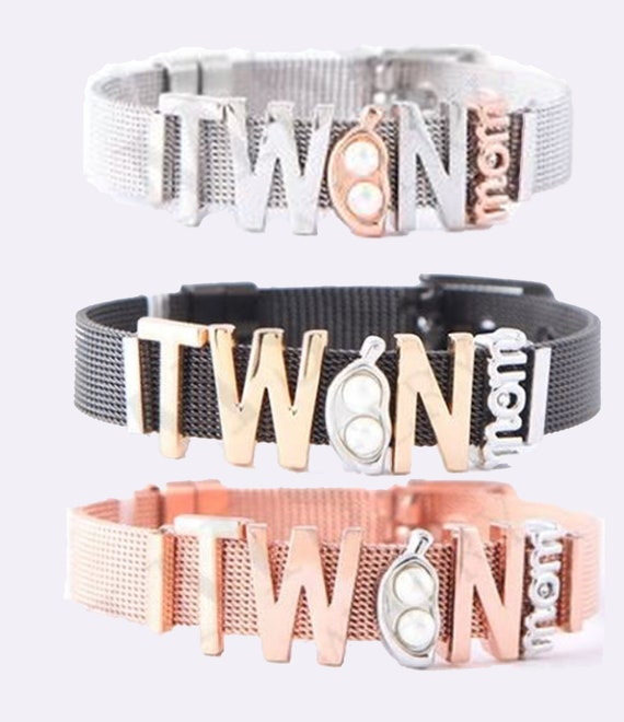 Twin Mom Bracelet, Mother's Day Gift, Twin Mom Gift, Gift for Mom, Mother's Day Gift for Mom