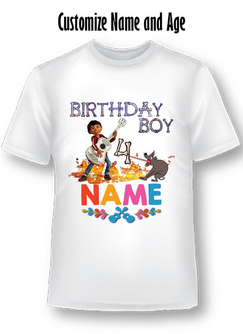 Coco Shirt Birthday Boys