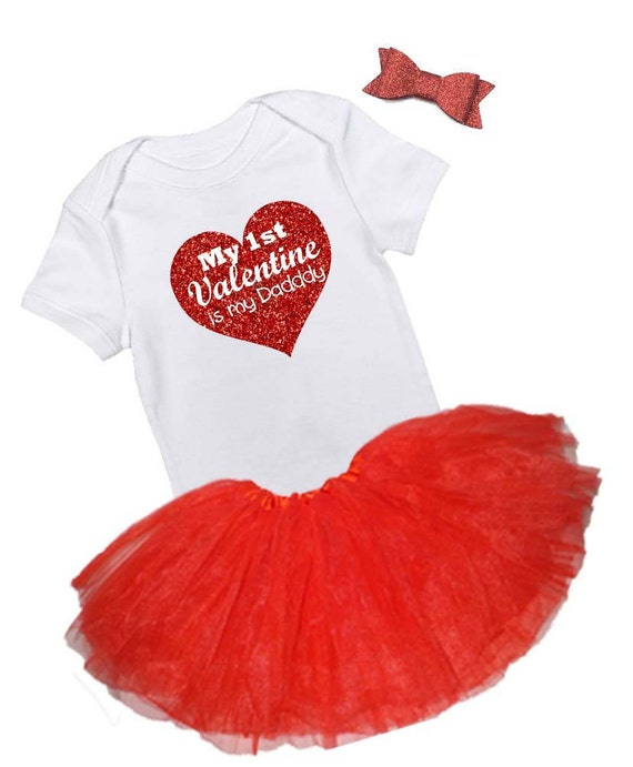 My First Valentine is My Daddy Bodysuit, My First Valentine Outfit, Valentines Day Shirt