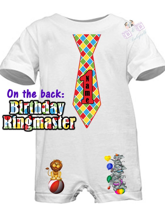 Circus Romper, First Birthday, First Birthday Circus, Birthday Ringmaster, Boys First Birthday, Circus Birthday, Customize