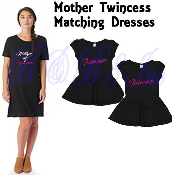 Mother Daughter Dress, Twincess Dress, Twincess, Mother to Twincesses, Mother's Day Gift, Mother's Day