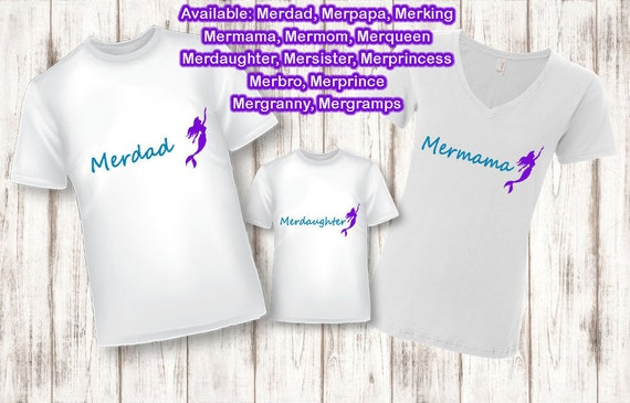 Mermaid Birthday, Mermaid Family Shirt, Merfamily, Mermaid, Family Shirts, Dad Shirt, Mom and Baby Shirt, Mom Shirt, Mama and Daughter Set