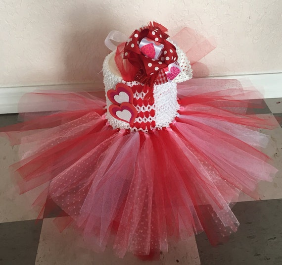Valentines Tutu Dress, Tulle Dress, Valentines, Red Dress, Girls Valentines Outfit