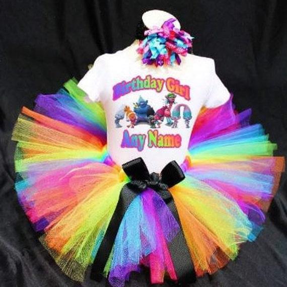 Trolls Birthday Outfit, Trolls Tutu, Trolls Birthday Shirt, Trolls Birthday, Troll TShirt, Troll Personalized Shirt