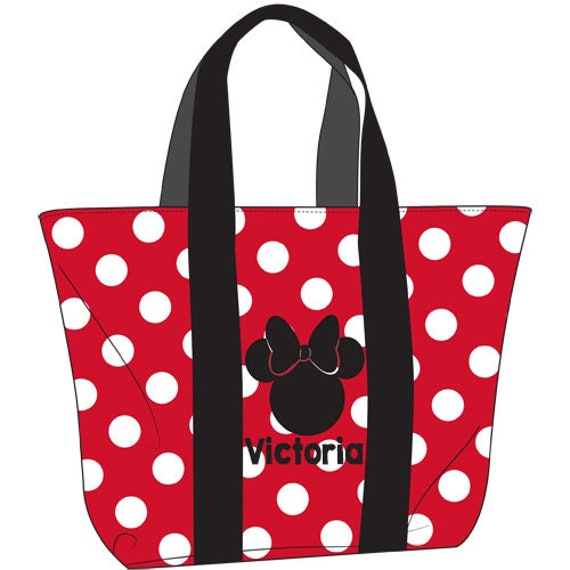 Minnie Mouse Tote Bag, Custom Minnie Mouse Bag, Disney Announcement, Disney Reveal, Minnie Mouse Fan