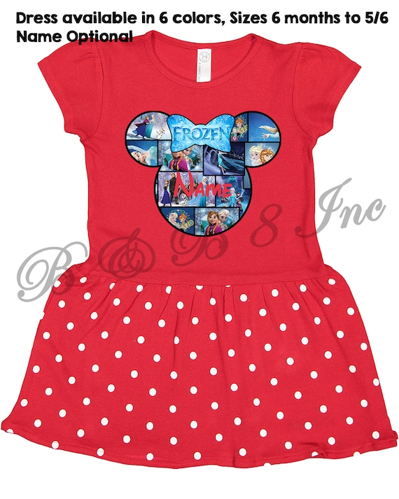Disney Family Shirts, Frozen Dress, Custom Disney Dress, Custom Frozen Dress, Custom Minnie Mouse Dress