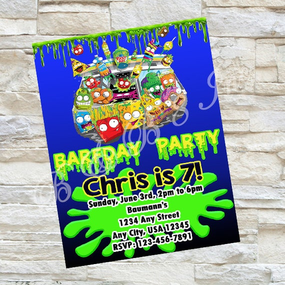 Grossery Gang Birthday Invitation, Grossery Gang Invitation, Grossery Gang Birthday, Grossery Gang Party, Grossery Gang Invites