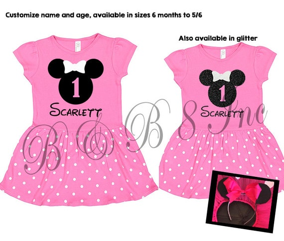 Minnie Mouse Birthday Dress, Minnie Mouse Dress, Minnie Mouse, Pink Minnie Mouse Birthday Outfit
