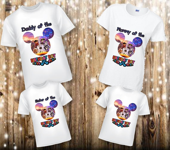 Coco Birthday Shirts, Family Disney, Family Coco Shirt, Black Coco Shirts, Custom Coco Movie Birthday Shirt