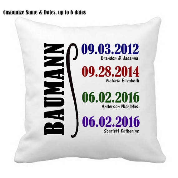 Mother's Day Gift, Family History, Personalized Pillow, Christmas Gift, Housewarming gift, Customized Pillow, Gift for Mom, Gift for Grandma