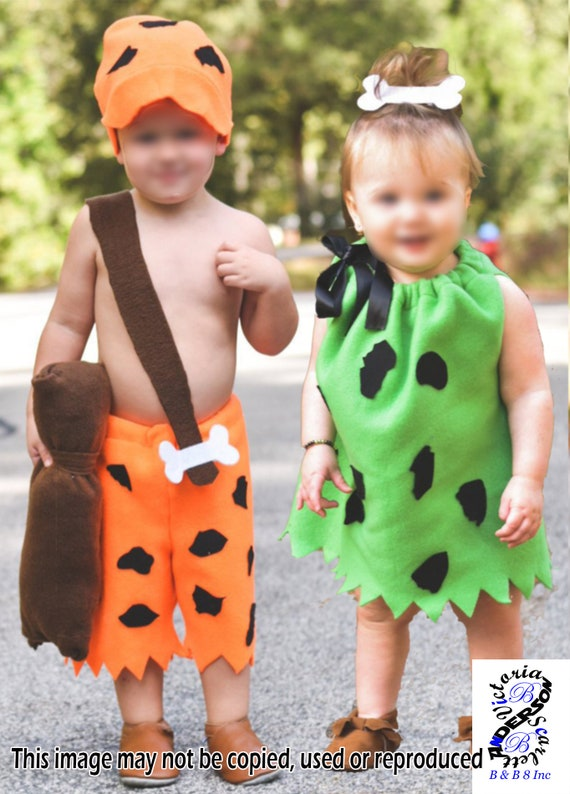 Bam Bam and Pebbles Costume, Pebbles Costume, Bam Bam Costume, Flintstones FREE shipping