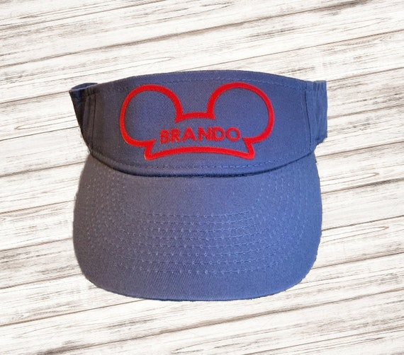 Disney Hat, Custom Youth Visor, Custom Adult Visor, Disney Trip, Disney Visor, Park Visor, Custom Disney Visor, Mouse Ears