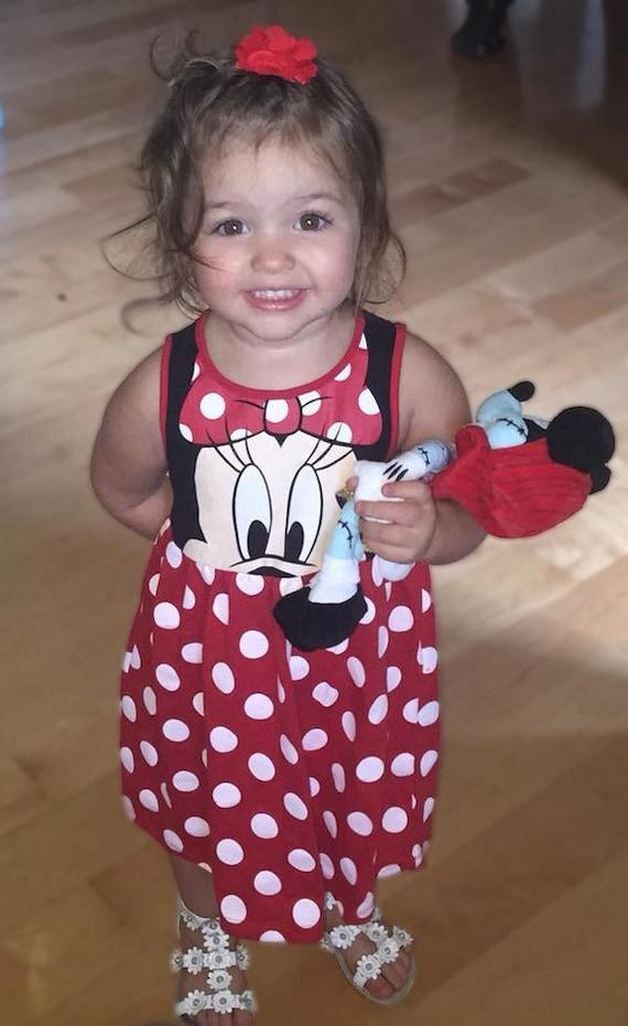 Minnie Mouse Dress, Disney Dress, Minnie Mouse Toddler Dress, Little Girls Dress, Minnie Mouse Party Dress, Disneyland, Disney World