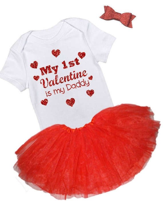 My First Valentine is My Daddy Bodysuit, My First Valentine Outfit, Valentines Day Shirt with hearts