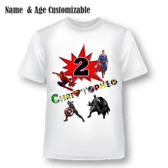 Superhero Birthday Shirt, Boys Birthday Shirt, Superhero, Superman, Batman Birthday, Captain America Birthday, Superman Birthday