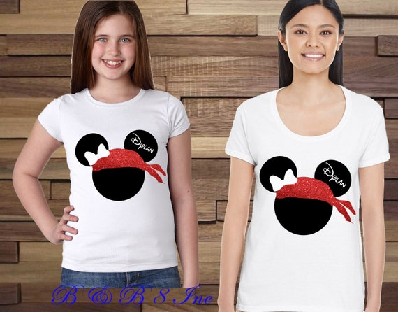 Pirate Minnie Shirts, Pirate Mickey Shirts, Disney Pirate Family Shirts, Custom Disney Shirts, Disney Cruise Shirts