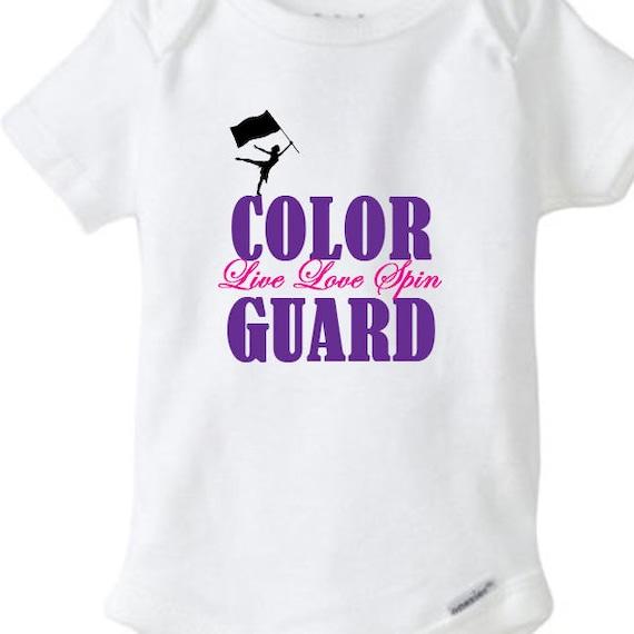Color Guard Bodysuit, Live Love Spin Bodysuit, Color Guard, Colorguard, Color Guard Shirt, Baby Gift