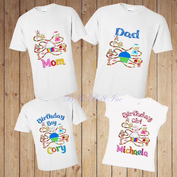 Candyland, Candyland Birthday Shirt, Twin Birthday, Candyland Mom, Candyland Dad, Custom Candyland, Rainbow Birthday, Candy Land Birthday