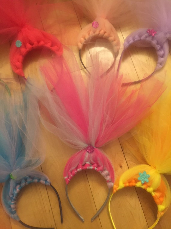 Trolls Headbands, Trolls Birthday Party, Trolls Favors, Trolls Accessories, Trolls Hair,