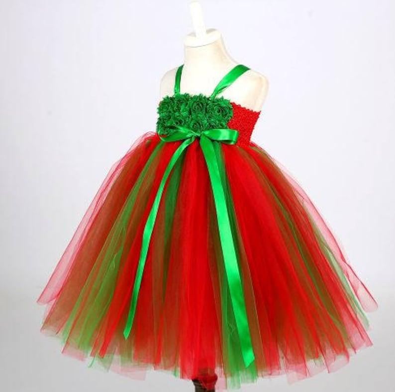 eb7aca9eb374 Christmas Tutu Dress Red and Green Tutu Dress Christmas | Etsy