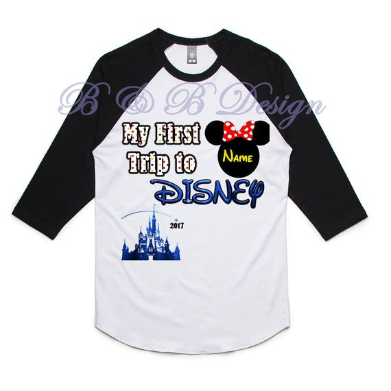 My First Trip to Disney Shirts, Family Shirts, Disney Shirts, Raglan Shirts, Disney World, Castle