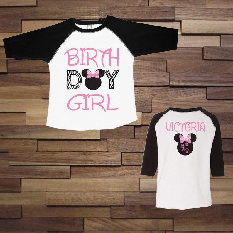 486df9ac Minnie mouse birthday shirt Pink and black minnie Birthday | Etsy