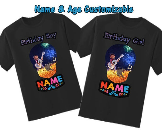Coco Shirt, Black Coco Birthday shirt, Coco boy's shirt, Coco Girls Shirt, Coco personalized shirt, Coco customized shirt, Coco Birthday