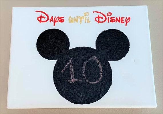 Disney Painting, Disney World countdown, Disneyland countdown, days until Disney World, Disneyland, Disney, Magic Kingdom
