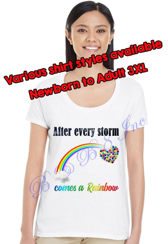 Rainbow Baby Shirt, After every storm comes a rainbow shirt, Rainbow baby gift, Rainbow Handprints