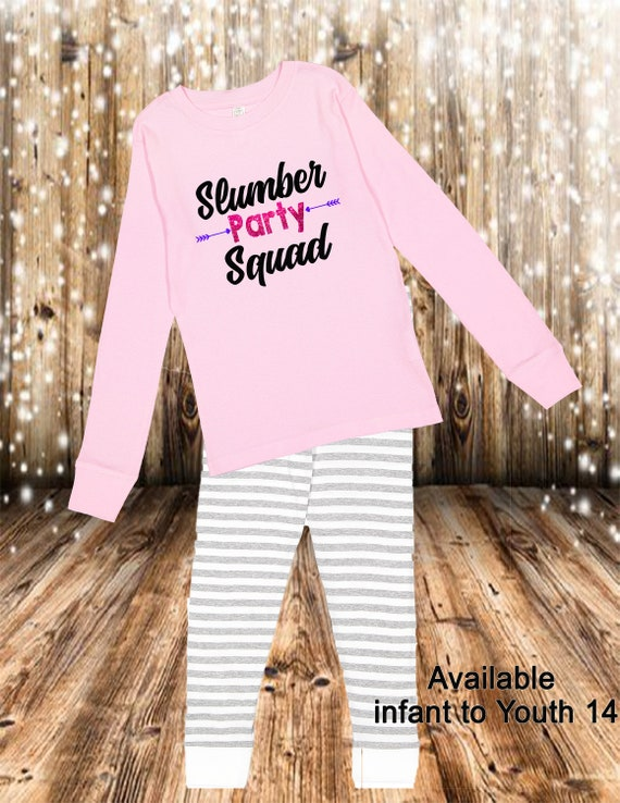 Slumber Party Pajama sets, Slumber Party Squad, Custom Pajama, Birthday Squad pajama sets, Girls custom Pajama sets, Slumber PJS