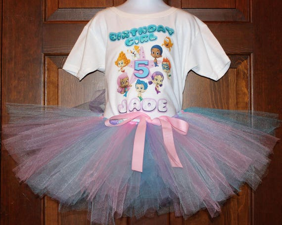 Bubble Guppies Birthday Outfit, Bubble Guppies Tutu, Customizable Bubble Guppies Birthday Shirt, Personalize Bubble Guppies