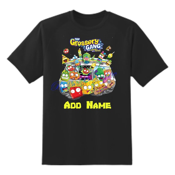 Grossery Gang Black Shirt,Girls Grossery Gang Shirt, Boys Grossery Gang Shirt, Boys Birthday Shirt, Grossery Gang, Custom Birthday Shirt