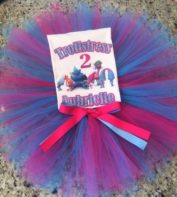Troll Birthday Shirt, Trolls Birthday Shirt & Tutu, Trolls Birthday Shirt, Poppy Birthday Shirt, Trollstress Birthday