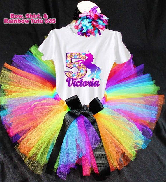 Unicorn Birthday Outfit, Rainbow Tutu, Unicorn Birthday Party, Unicorn Outfit for Birthday Girl, Birthday Girl Unicorn, Unicorns