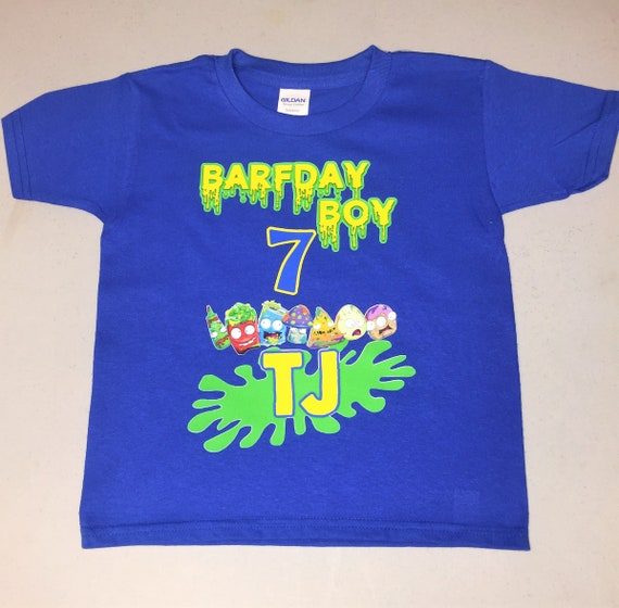 Grossery Gang Birthday Shirt, Boys Birthday Shirt, Grossery Gang in Royal Blue, Custom Birthday Shirt