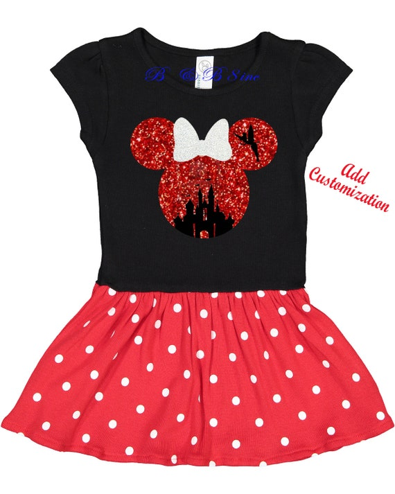 Minnie Mouse Dress, Custom Minnie Mouse Dress, Minnie Mouse, Minnie Mouse Disney dress
