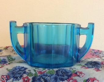 Vintage Blue Glass Cup