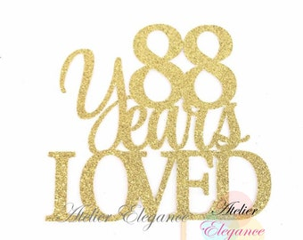 Acrylic Cake Topper Ideal for 88th Birthday or Anniversary Celebration Mirror Gold Number 88 Cake Topper