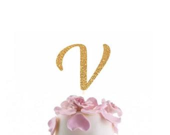 lots colors monogram cake topper monogram v cake topper initials cake topper personalized name cake topper letter cake topper birthday
