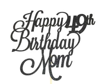 mom cake topper etsy Criminal Minds Tech any age happy birthday mom cake topper mother s birthday cake topper mother birthday cake topper mother birthday party mother s day
