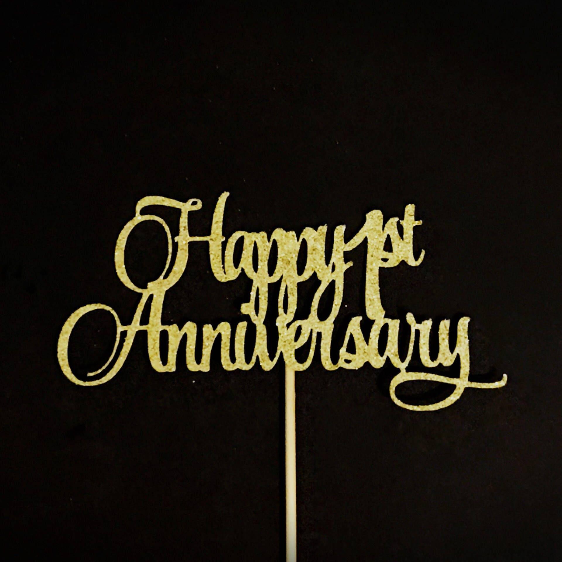 Happy 1st Anniversary Cake Topper 1st Anniversary Cake | Etsy