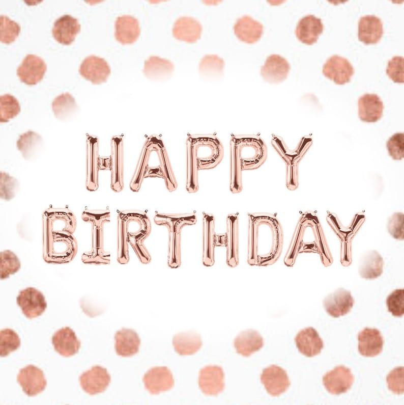 16 HAPPY BIRTHDAY Balloon Rose Gold Letter Balloon